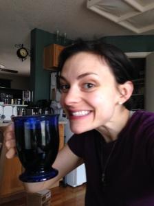 Drinking tea in my kitchen